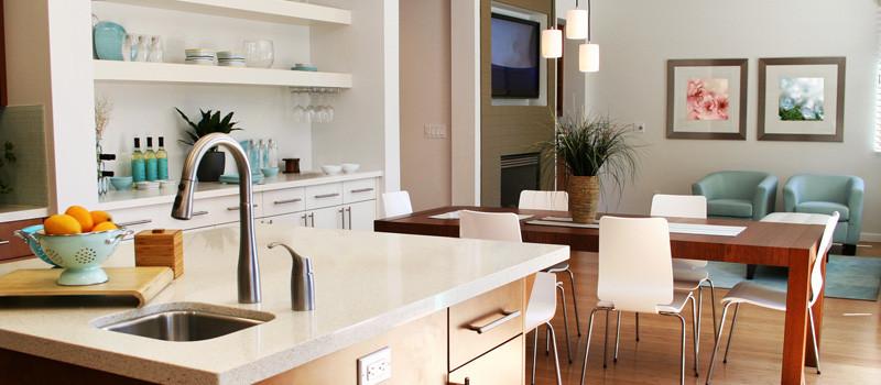 Aranżacje wnętrz: mieszkań, biur i domów.